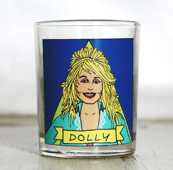 'feminist icon' candle by flaming idols