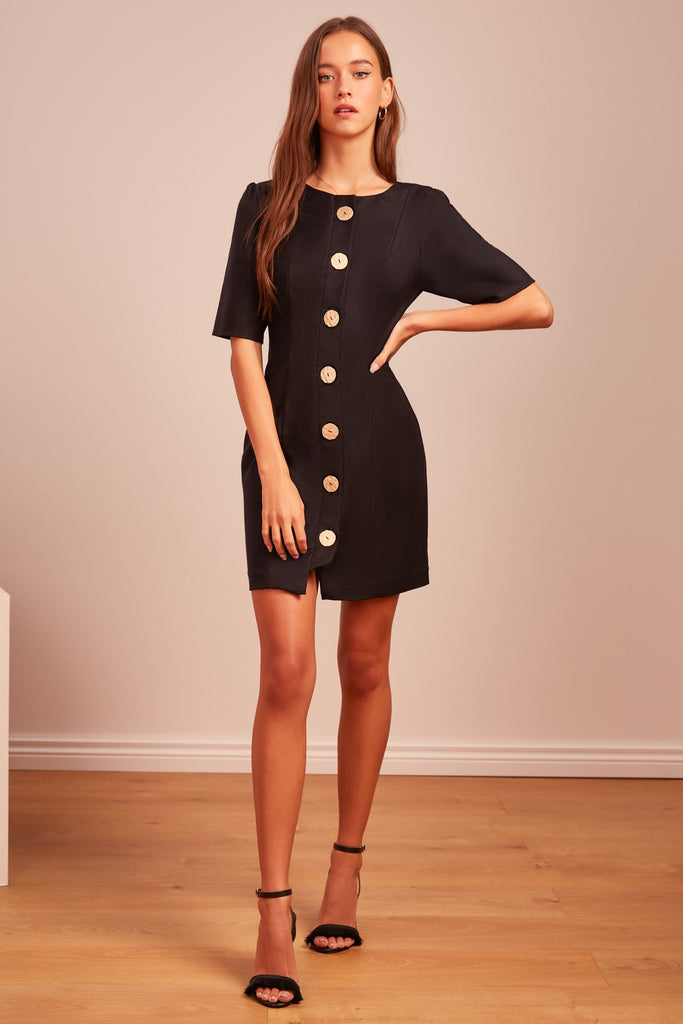 Finders Keepers Pompeii Mini Dress Black - Room 29