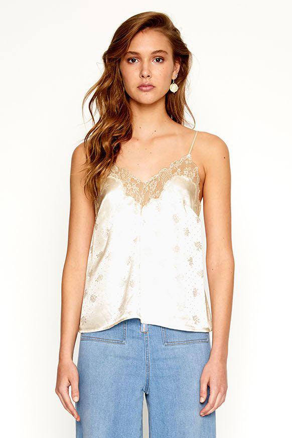 Alice McCall Silk & Lace Play It Cool Cami Porcelain - Room 29