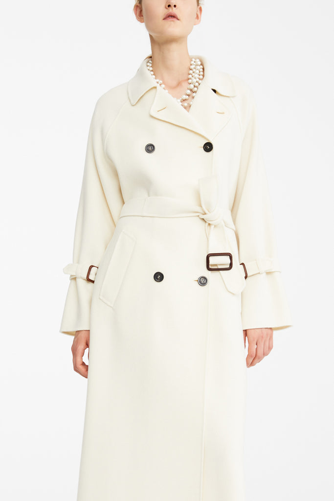 Maxmara Weekend 50110197 Oidio Coat White - Room 29