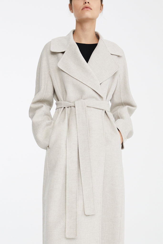 Maxmara Weekend 90110891 Aronare Wool Coat Beige - Room 29