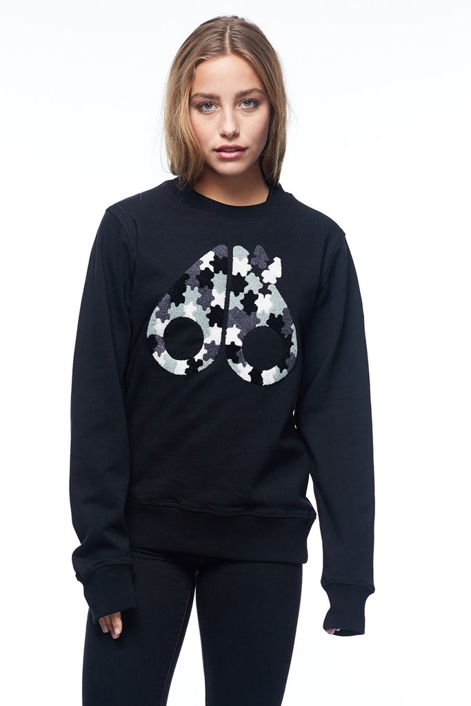 Moose Knuckle Hollyrood Bay Sweatshirt Black - Room 29