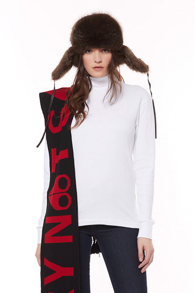 Moose Knuckle Sorry Not Sorry Scarf/Black w/Red - Room 29