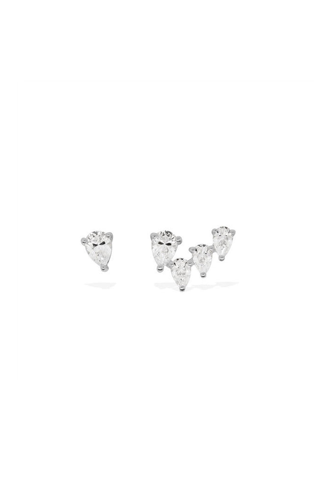 APM Silver Droplet Stud Earring AE9447OX - Room 29