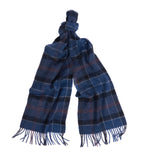 Barbour Holden Tartan Scarf - Navy/Rust - North Shore Saddlery