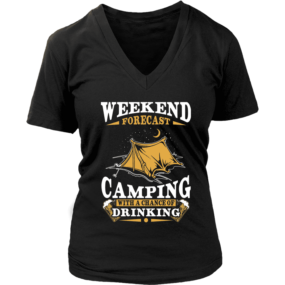 Camping Shirt - Weekend Forecast-T-shirt-Spyder Deals