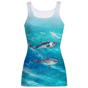 Fish Waves-Sublimation Tank Tops-Spyder Deals