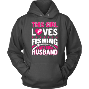 Fishing Hoodie - This Girl Loves Fishing With Her Husband