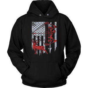 Hunting Hoodie - Hunting Flag-T-shirt-Spyder Deals