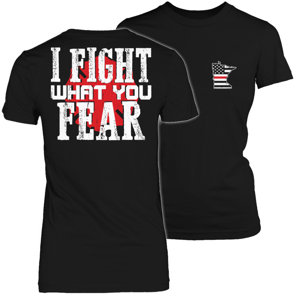 Limited Edition Firefighters - I fight what you fear Minnesota Brotherhood-T-shirt-Spyder Deals