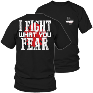 Limited Edition Firefighters - I fight what you fear Texas Brotherhood-T-shirt-Spyder Deals