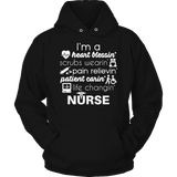 Limited Edition - I'm A Heart Blessin Scrubs Wearin Pain Relievin Patient Carin Life Changin NURSE-T-shirt-Spyder Deals