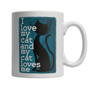 Limited Edition Mug - I Love My Cat And My Cat Loves Me-Drinkwear-Spyder Deals