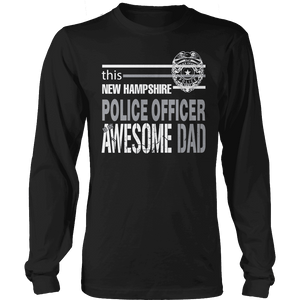 Limited Edition - This New Hampshire Police Officer Is An Awesome Dad-T-shirt-Spyder Deals