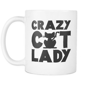 Limited Edition White Mug - Crazy Cat Lady-Drinkware-Spyder Deals