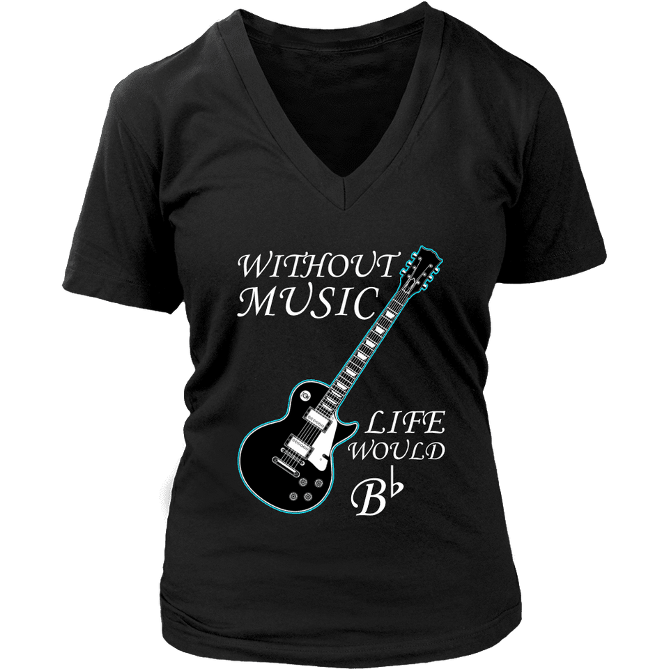 Music Shirt - Without Music Life Would Be Flat-T-shirt-Spyder Deals