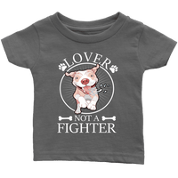 Pitbull Shirt | Kids - Lover Not A Fighter-T-shirt-Spyder Deals