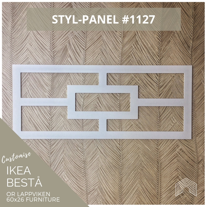 Styl-Panel #1127 to suit Ikea Besta 60x26 furniture