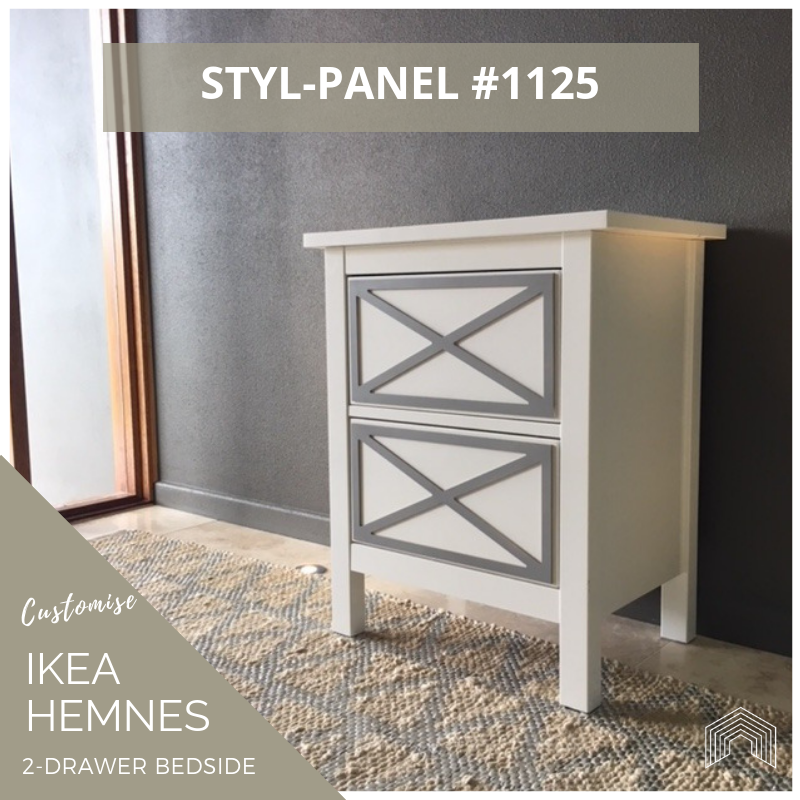 Styl-Panel Kit: #1125 to suit IKEA Hemnes 2-drawer bedside table