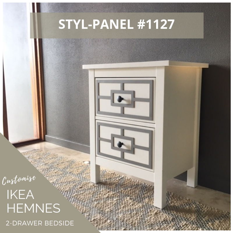 Styl-Panel Kit: #1127 to suit IKEA Hemnes 2-drawer bedside table