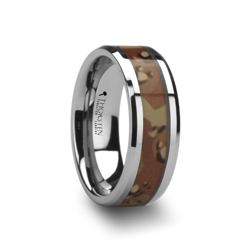 SANDSTORM | Desert Camo Ring | Tungsten | 8mm