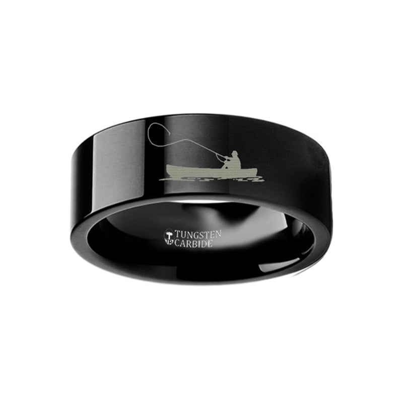 FISKER | Fishermen's Black Tungsten Ring | 4mm, 6mm, 8mm, 10mm & 12mm - TCRings.com