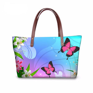 HQ Butterfly Handbag Tote Bag - Freedom Look