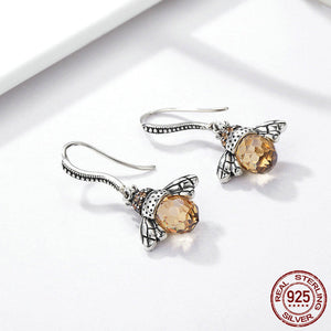 Lovely Orange Bee Earrings - Sterling Silver 2018 - Freedom Look