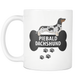 Piebald Dachshund Mug - Piebald Dachshund Ornament - Wiener Dog Dad Mom Mug With Bone And Paws - Great Gift For Daschund Owner - Freedom Look
