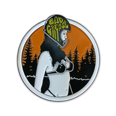 Bad Grease Inc - BG Helmet Girl Enamel Pin