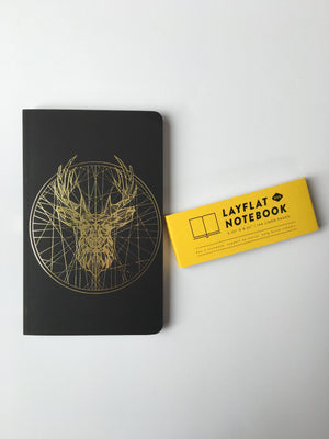 Denik-Golden Deer Lined Journal