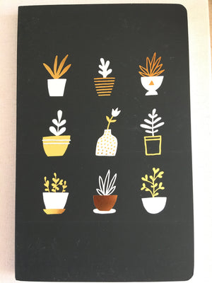 Denik Gold Plants Blank Journal
