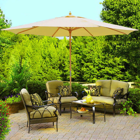 Image of 13' Patio Umbrella w/German Beech Wood Pole