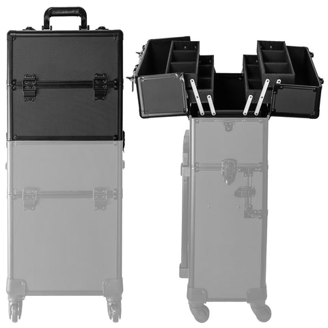Image of 4 Wheel 2-in-1 Makeup Train Cosmetic Case