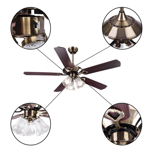 Image of 5-Blade Ceiling Fan w/ Light & Remote