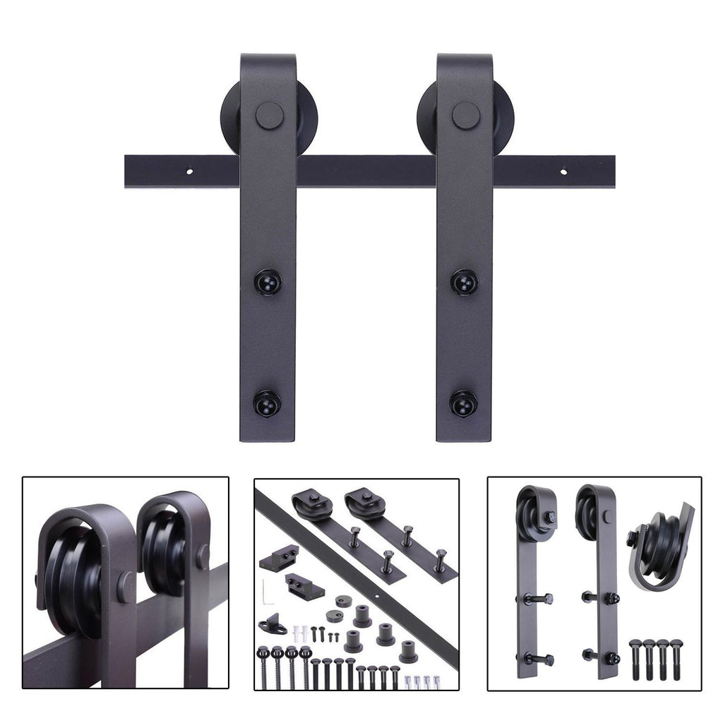 Sliding Barn Wood Door Hardware Track Set