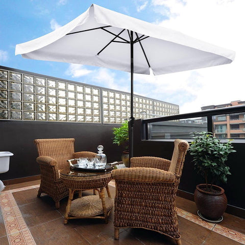 Image of 10'x6.5' Rectangular Tilt Patio Umbrella