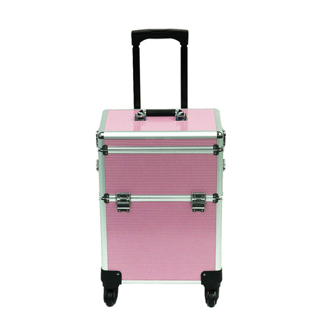 4 Wheel 2-in-1 Makeup Train Cosmetic Case