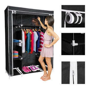 Black Portable Closet - Shoe Organizer