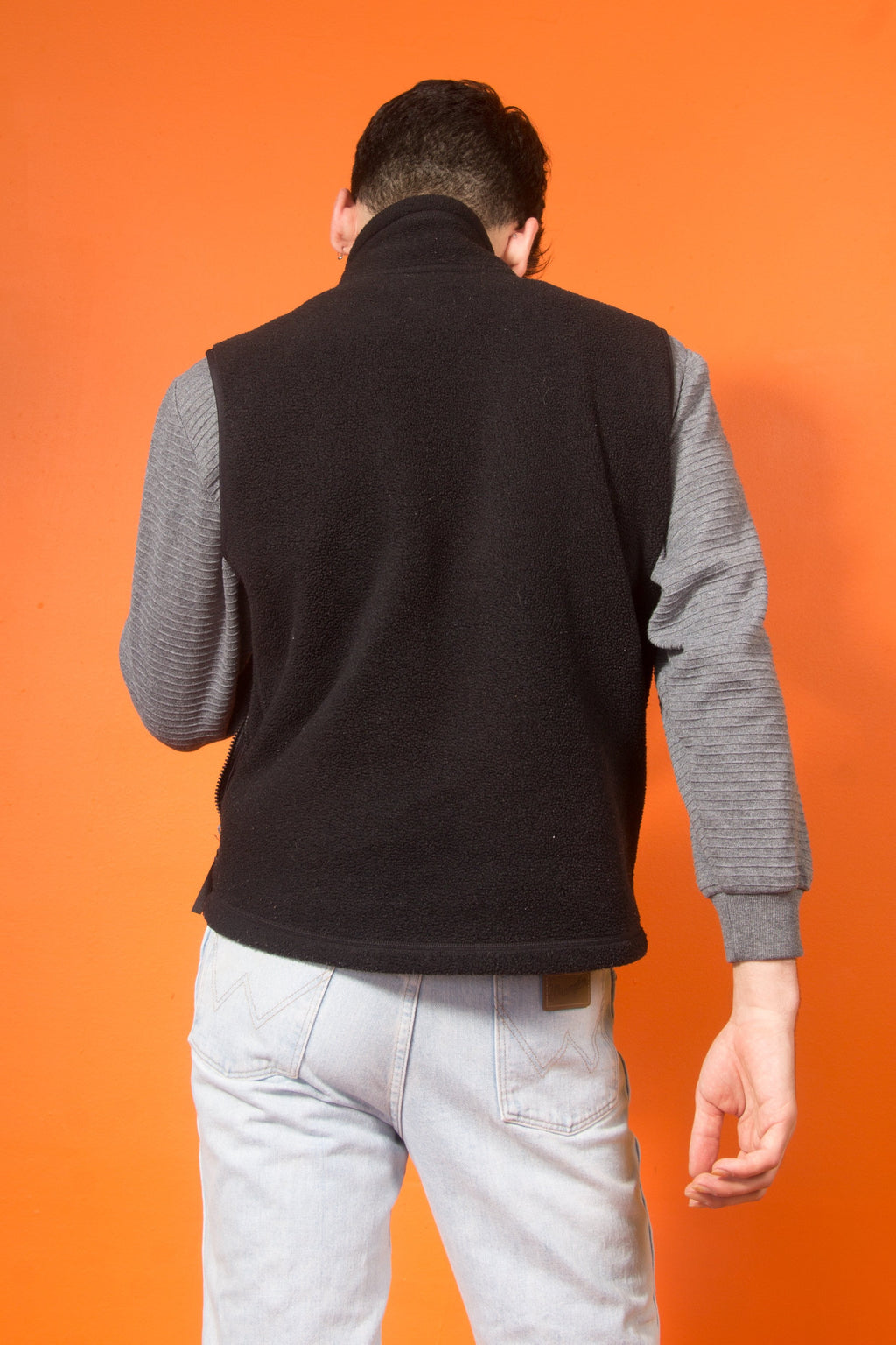 Vintage - black fleece vest