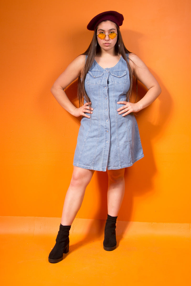 Vintage - Button Jean Dress