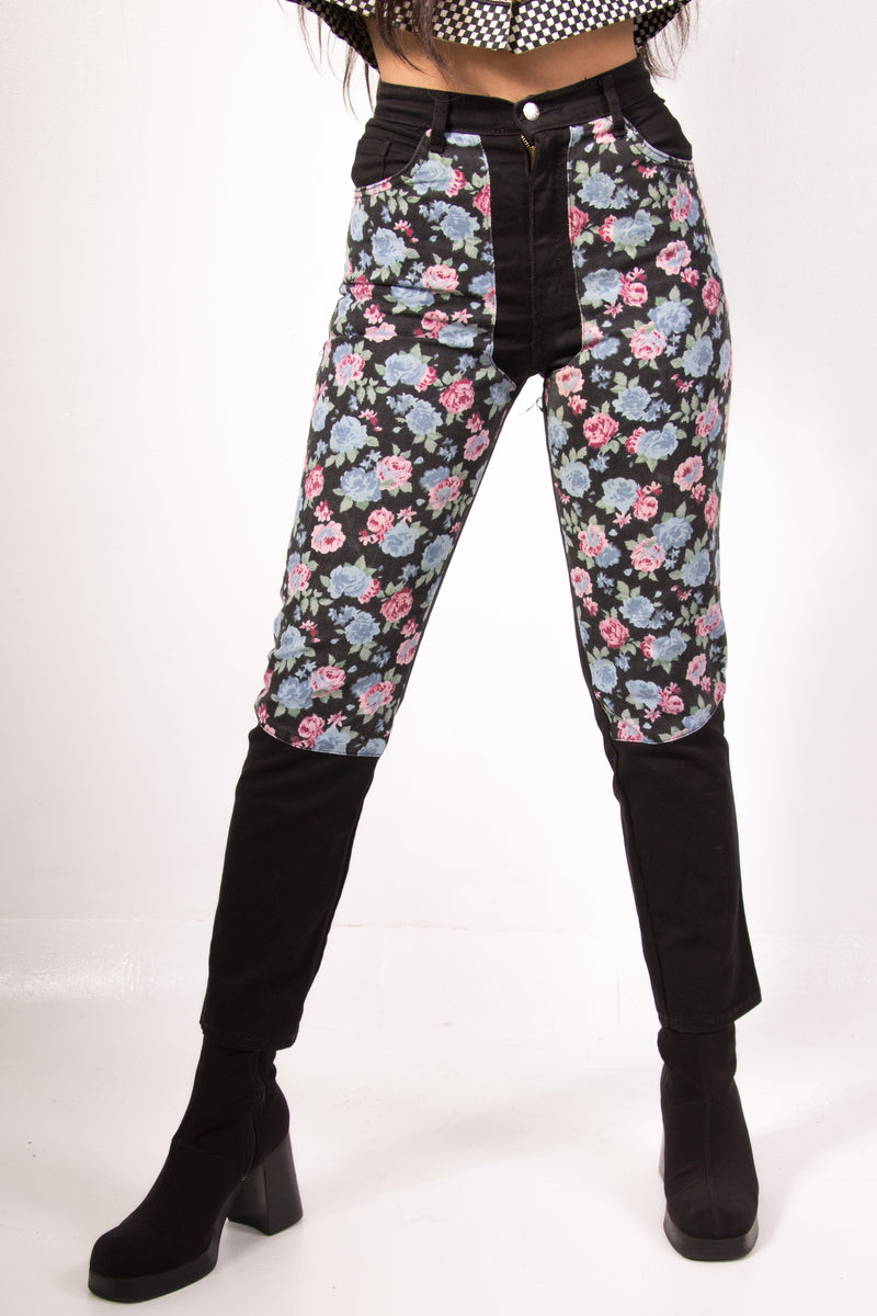 Vintage - floral highwaisted Jeans