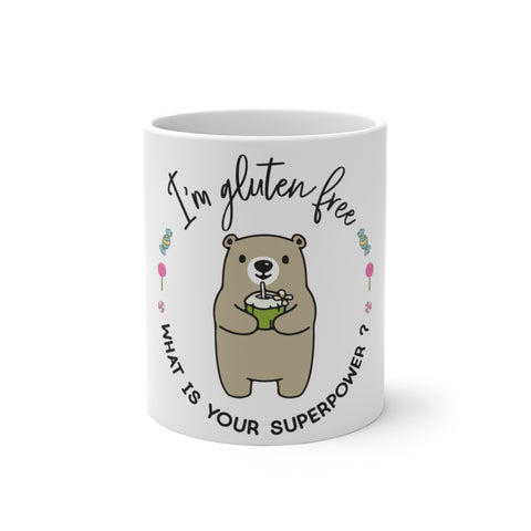 Color Changing Mug GLUTEN FREE SUPERPOWER