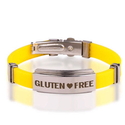 Official GLUTEN ❤ FREE Yellow Stainless Steel Bracelets