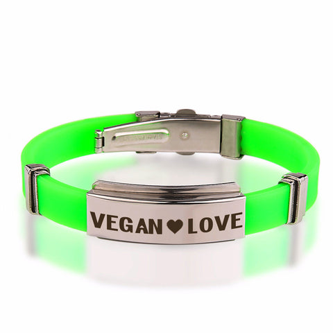 Official VEGAN ❤ LOVE Stainless Steel Bracelets