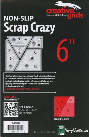 "Creative Grids Scrap Crazy 6""  Notion - StoryQuilts.com"