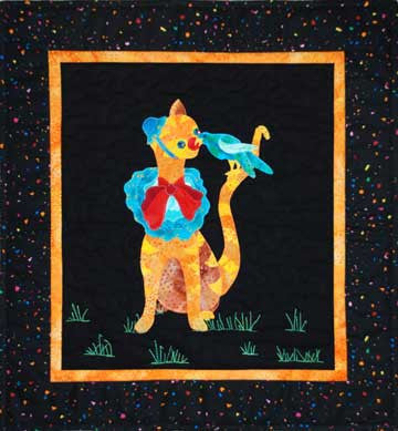 Clowning Around Kitty  Pattern - StoryQuilts.com