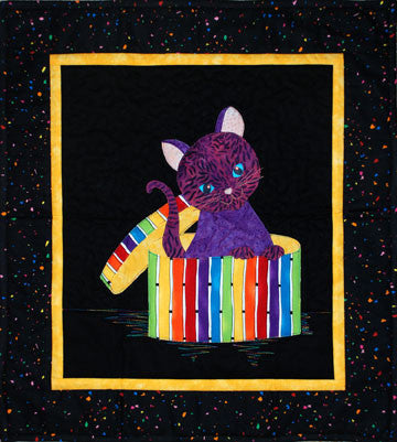 Cat in a Hatbox  Pattern - StoryQuilts.com