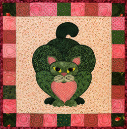 Brussels Cat - Garden Patch Cats  Pattern - StoryQuilts.com