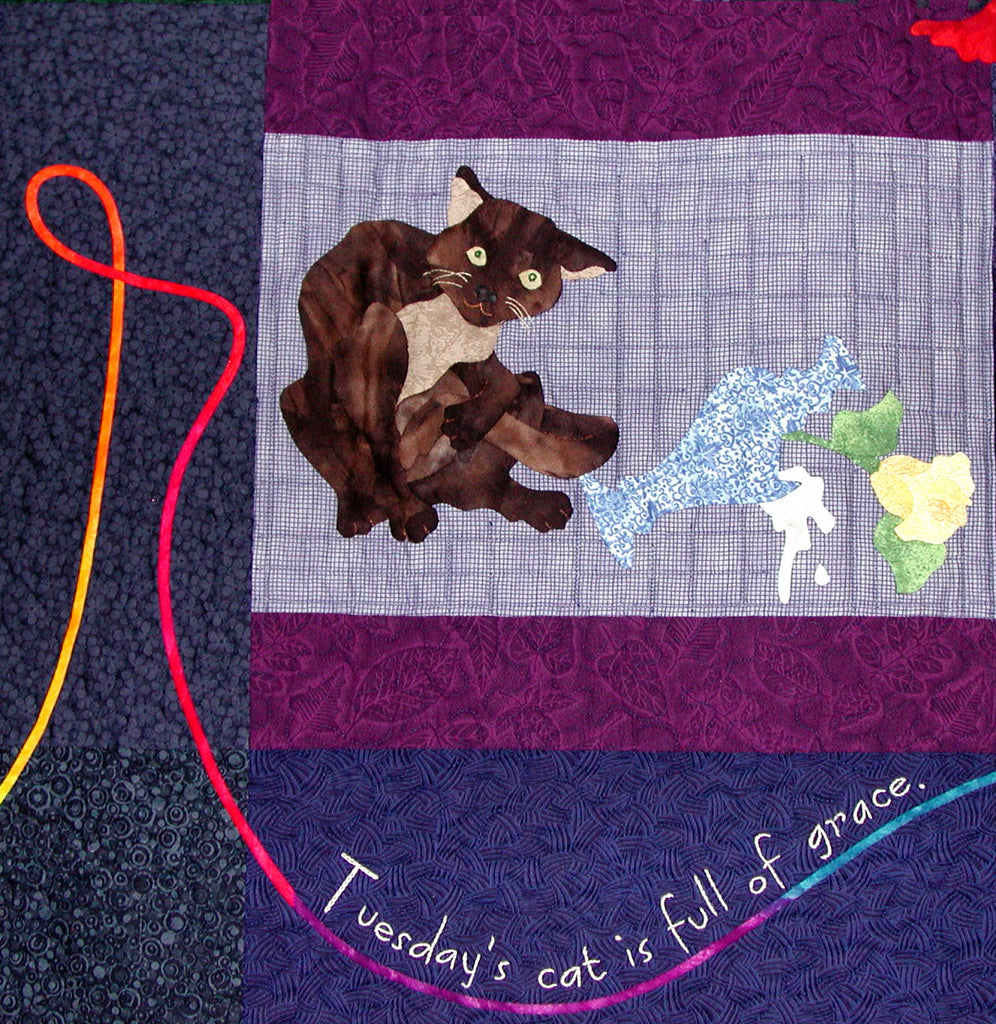 Tuesday's Cat - Block 2  Pattern - StoryQuilts.com